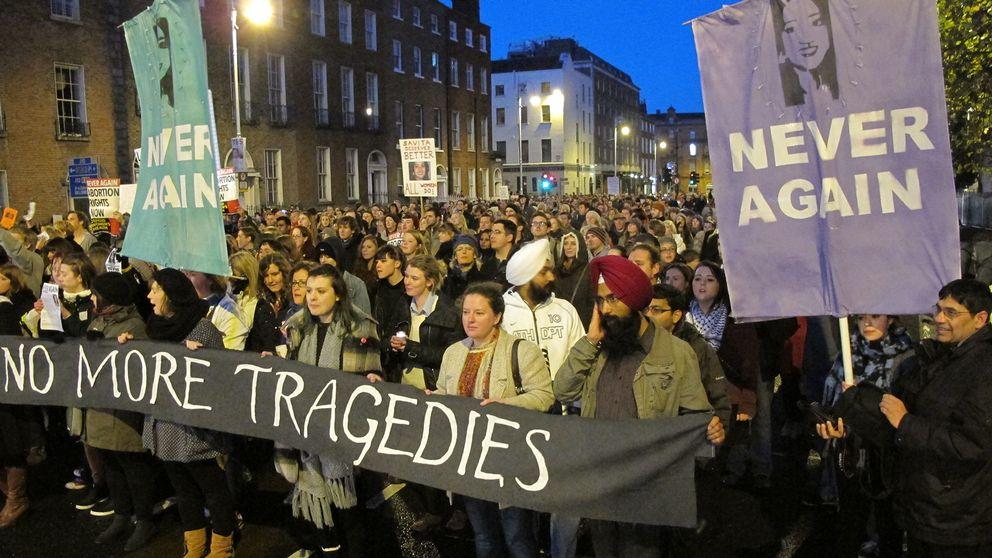 En demonstration mot Irlands hårda abortlagar från 2012.