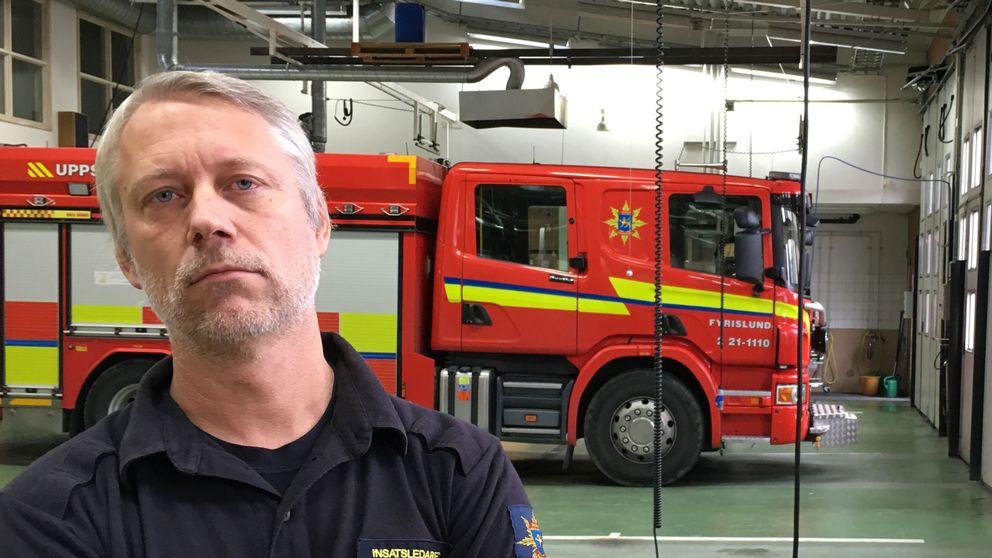 Bosse Eriksson, insatsledare Uppsala brandförsvar