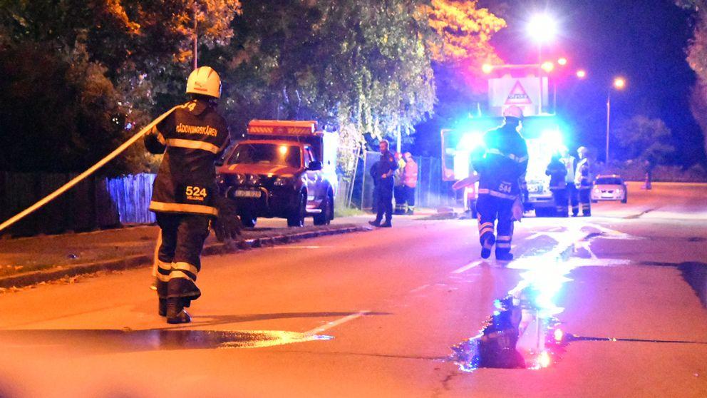 Räddningstjänst vid branden i Vellinge