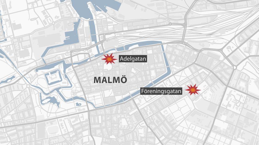 Karta över Malmö.