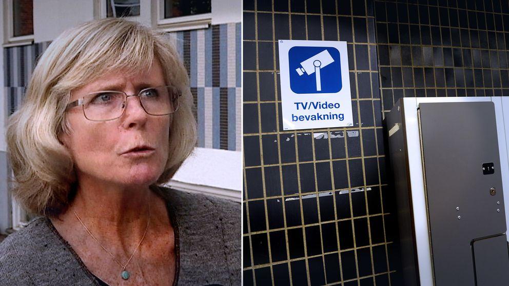 Helena Petersson (S), skylt för videoövervakning.