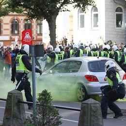 Polis under demonstrationerna i Göteborg