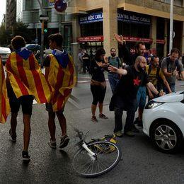 Katalonien drabbas av strejk