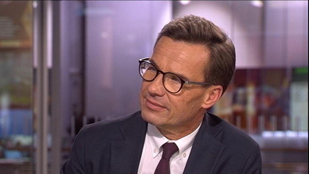Ulf Kristersson i SVT:s Morgonstudion