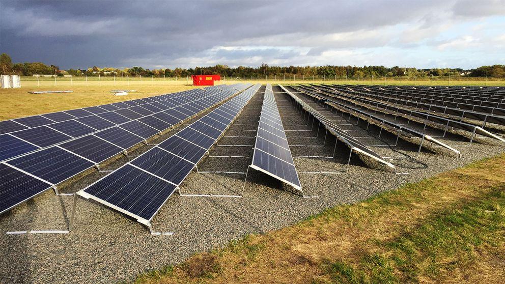 Så här ser den nya solcellsparken utanför Landskrona ut.