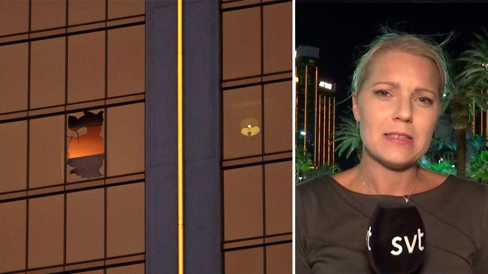 – Han lyckades göra halvautomatiska vapen helautomatiska, vilket gjorde att han kunde skjuta 90 skott per tio sekunder, rapporterar SVT:s USA-korrespondent Carina Bergfeldt på plats i Las Vegas.