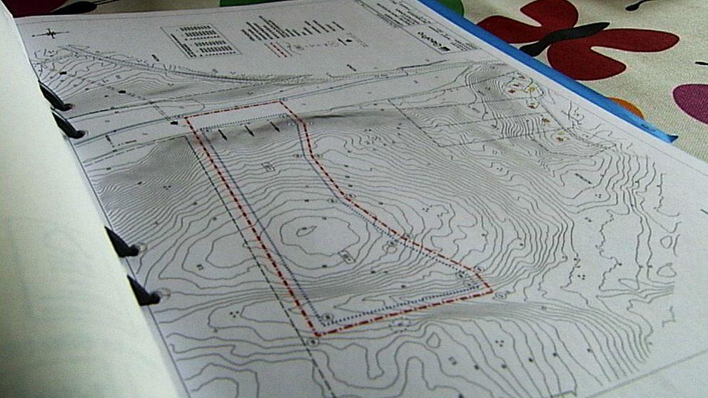 En karta med olika höjder