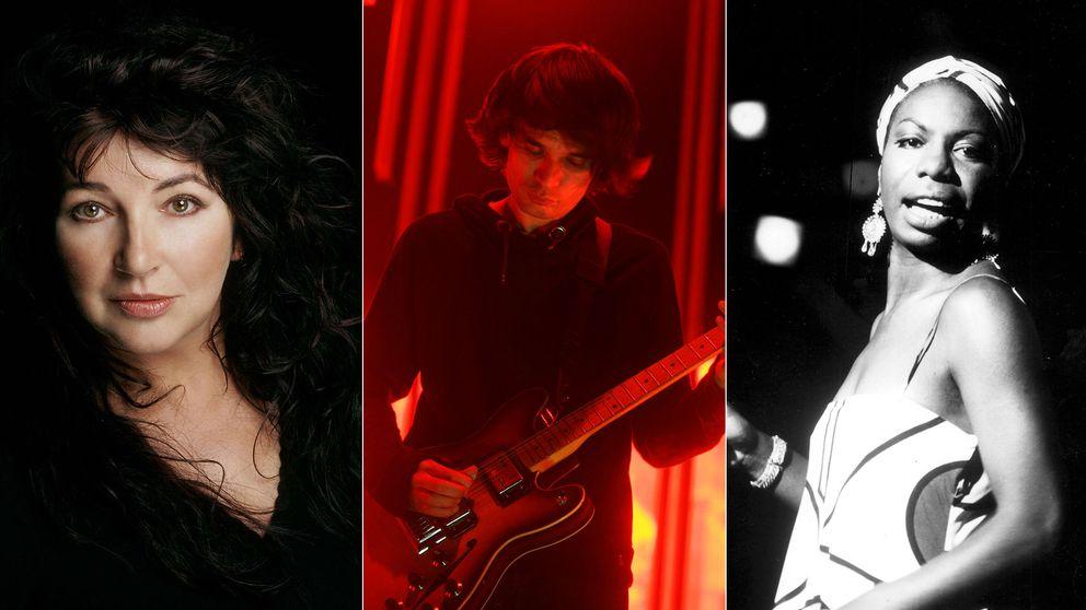 Kate Bush, Jonny Greenwood från Radiohead och Nina Simone.