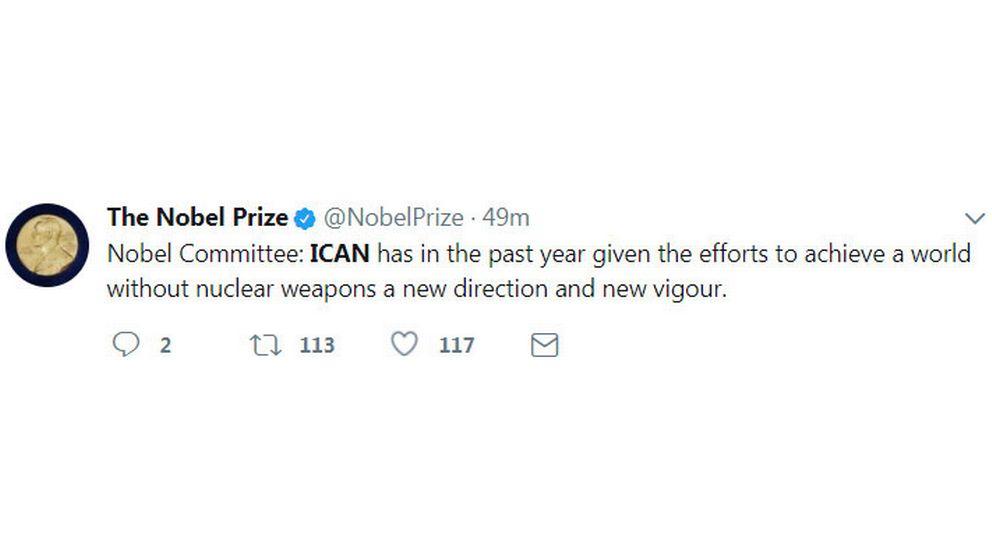 Fredspriskommittéen prisar Ican