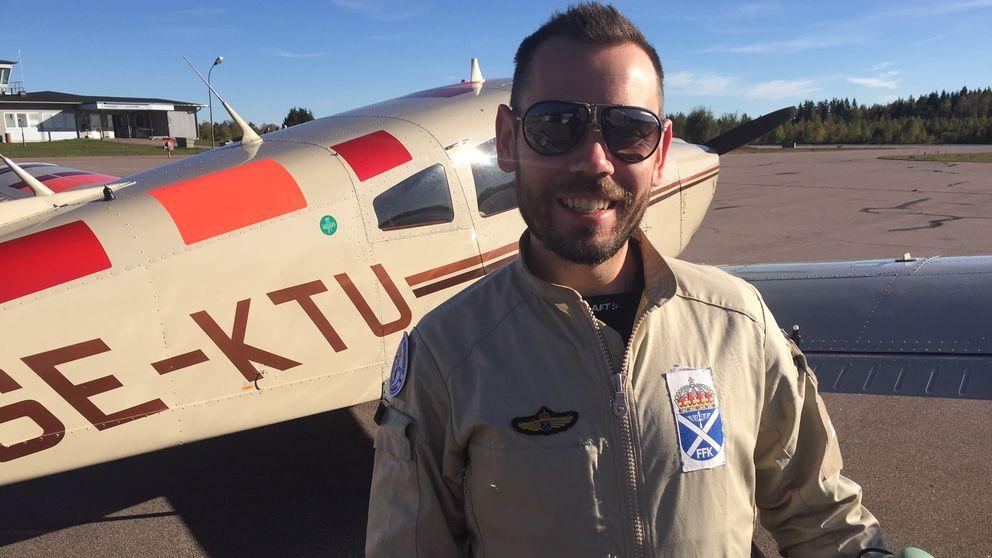 Peter Lindqwist på frivilliga flygkåren