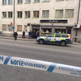 Rån på Nygatan i Södertälje.