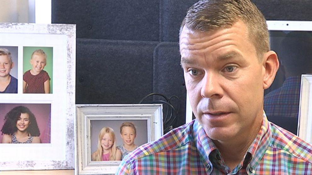 Patrik Nilsson är vd på ett skolfotoföretag i Göteborg.