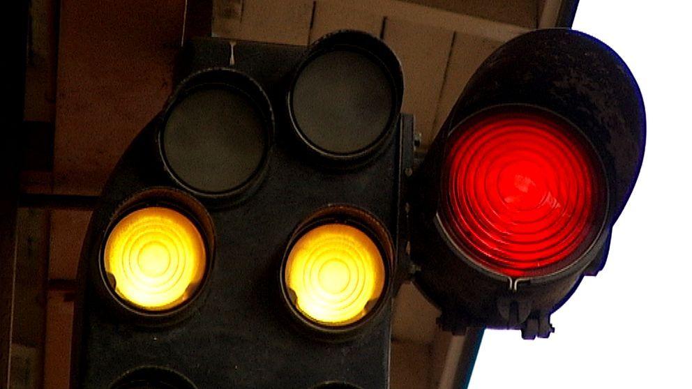 Ljussignal för tåg