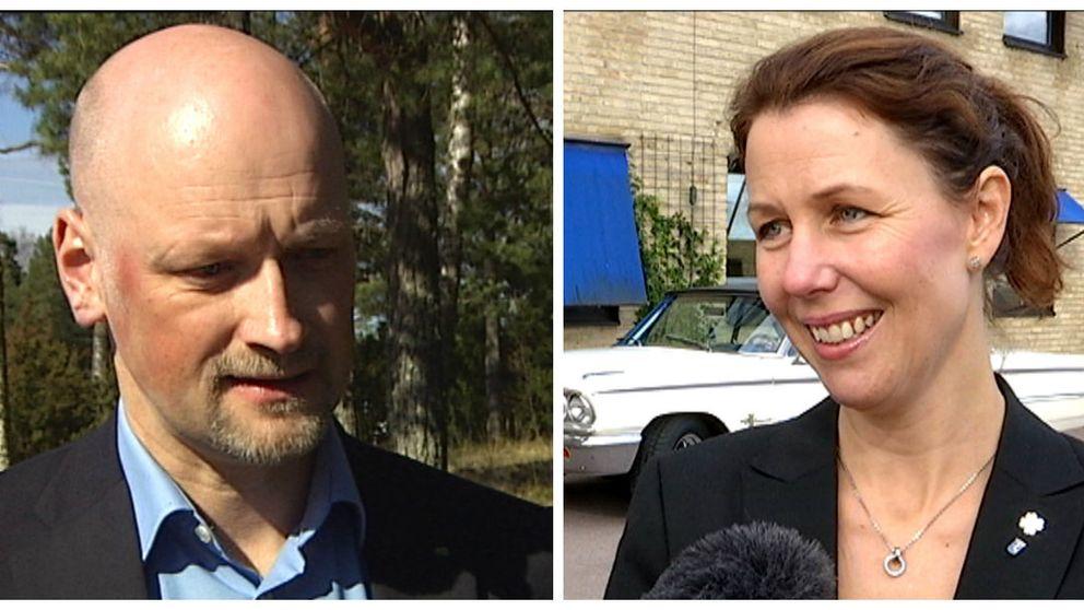 Daniel Bäckström (C) och Mona Smedman (C).