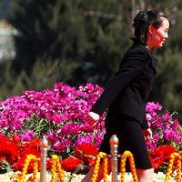 Nordkoreas diktator Kim Jong-Un och systern Kim Yo-Jong.