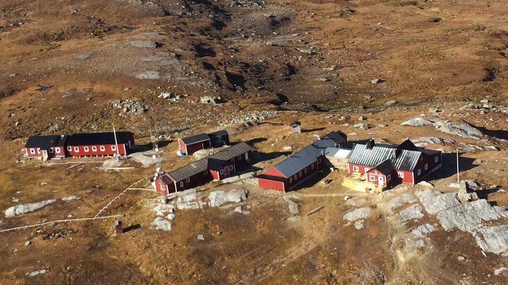 flygbild över byggnader på kalfjäll
