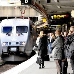 Perrong vid Stockholms centralstation. Arkivbild.