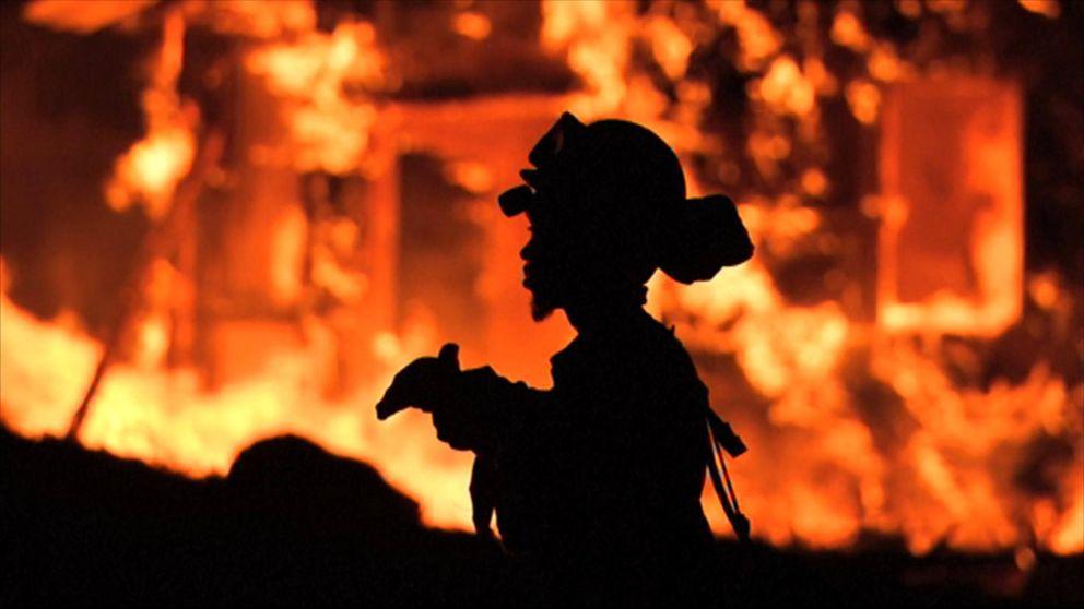 Bilder från branden.