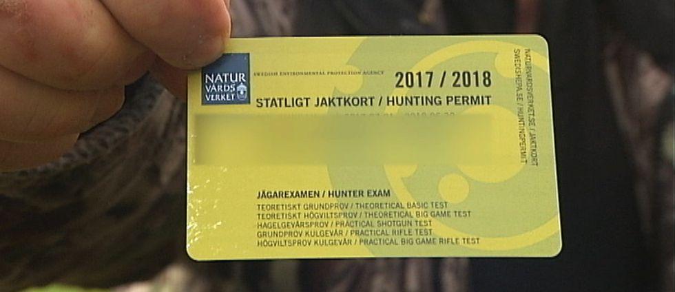 gult jaktkort för jaktåret 2017-2018