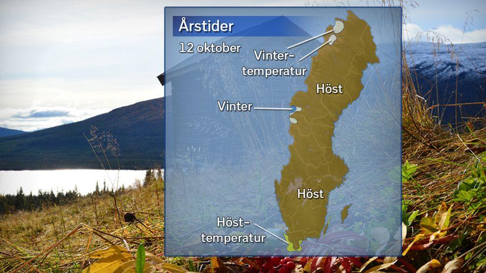 Höstens och vinterns ankomst, 12 oktober 2017.
