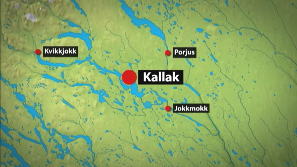 Karta över Kallak