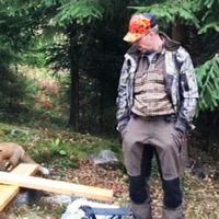 Här överraskar den sällskapssjuka räven jaktledare