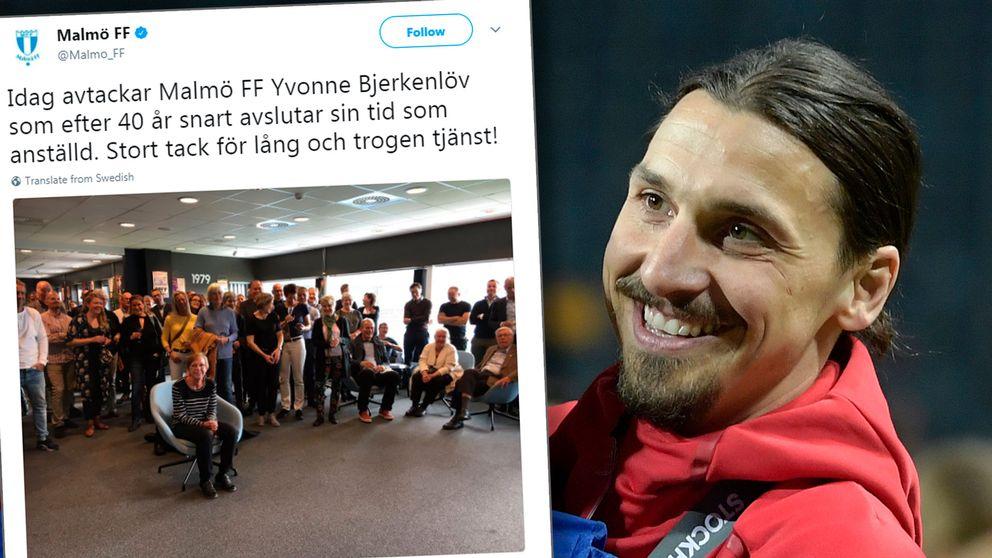MFF:s tweet till Yvonne Bjerkenlöv samt Zlatan Ibrahimovic