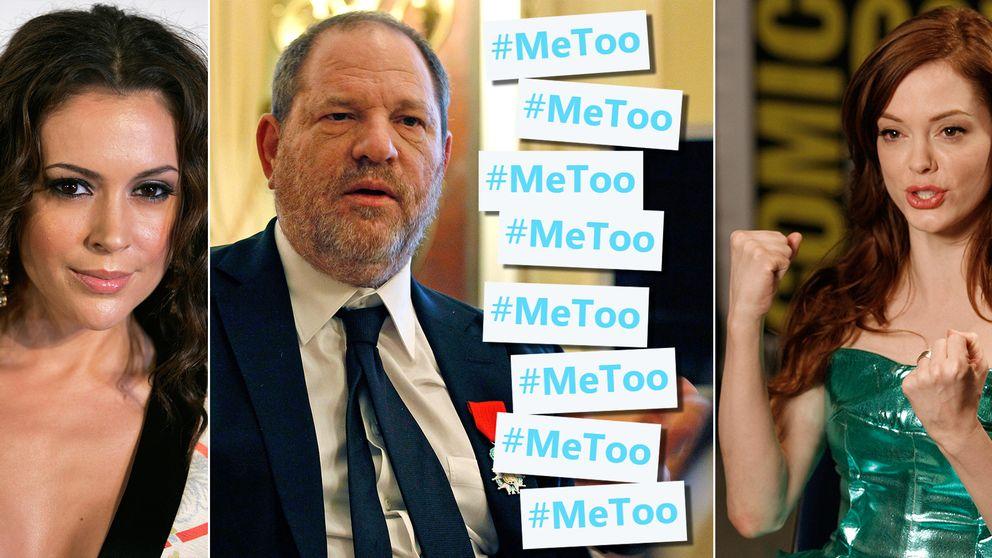 Alyssa Milano, Hervey Weinstein och Rose McGowan.