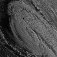 Stormen Ophelia sedd från rymden.