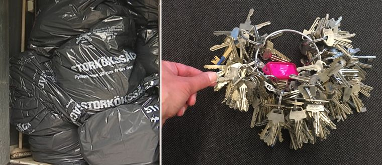 Omärkta nycklar har lett till att sopåkarna inte kunnat hämta soporna som de ska.