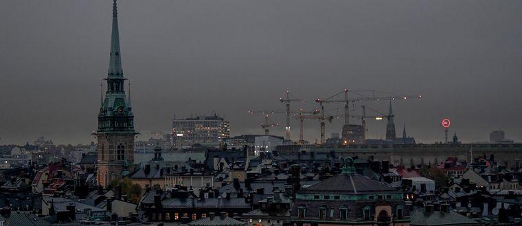 Mörker över Stockholm.