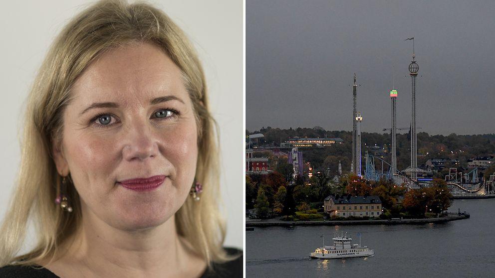 SVT:s meteorolog Åsa Rasmussen.
