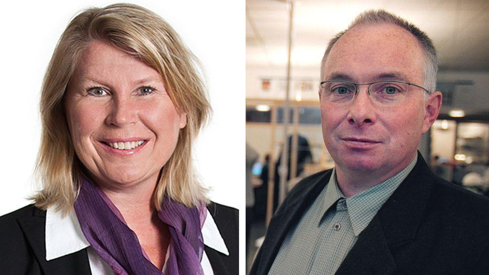Charlotta Friborg, ansvarig utgivare på SVT Riksnyheterna och Allmänhetens Pressombudsman Ola Sigvardsson.