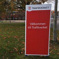 Skylt: Välkommen till Trafikverket