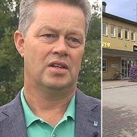 Dals-Eds kommunalråd Martin Carling och Eds torg.