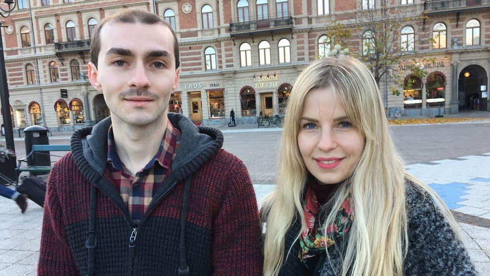 Wisam Orabi Alkhen och Josefin Gannå