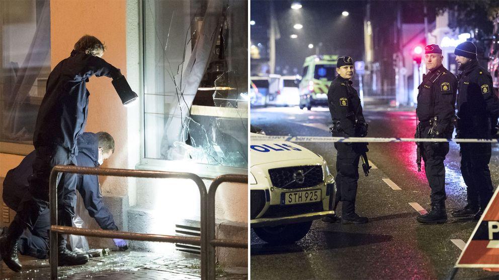 Polisen undersöker klubben som attackerades.
