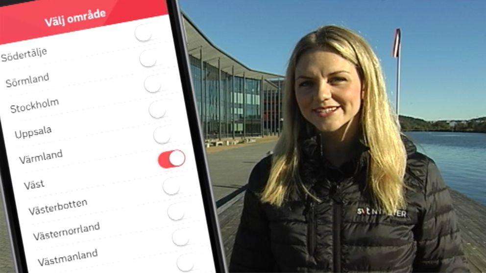 Rebecca Nyström berättar om appen SVT Nyheter.