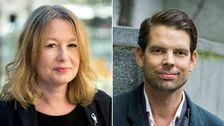 Författarna Åsa Linderborg och Alex Schulman.