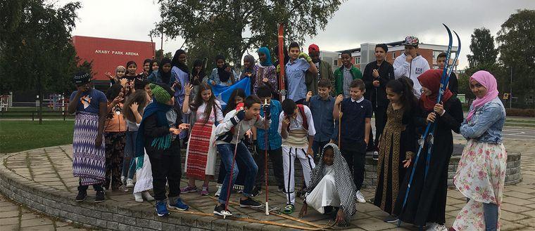 Klass 6 på Centrumskolan i Araby i Växjö är vinnare i Vasaloppets skolutmaning 2018.