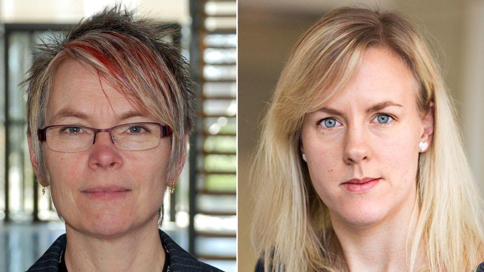 Statsvetaren Agneta Blom och Anna Frenzel, utredare på Brottsförebyggande rådet.