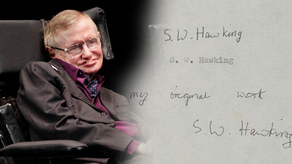 Hawkings avhandling publicerades – universitetets sajt kraschade
