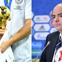 Confederations cup-bucklan och Gianni Infantino.