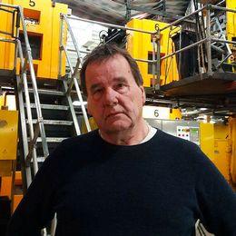 Ulf Thors chef på Mittmedias tryckeri i Örnsköldsvik.