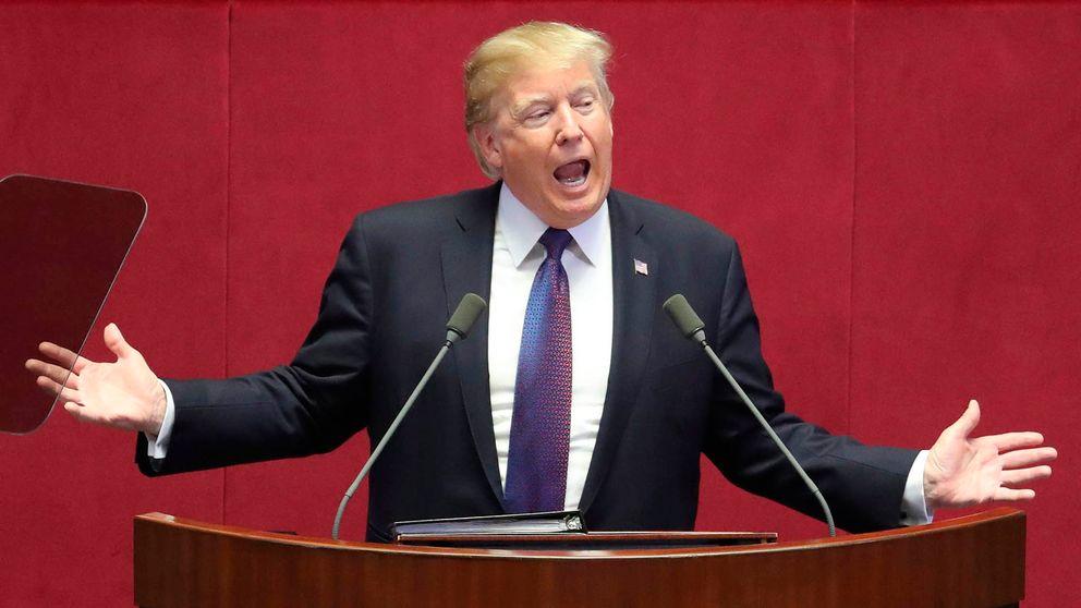 Donald Trump talar i den sydkoreanska kongressen.