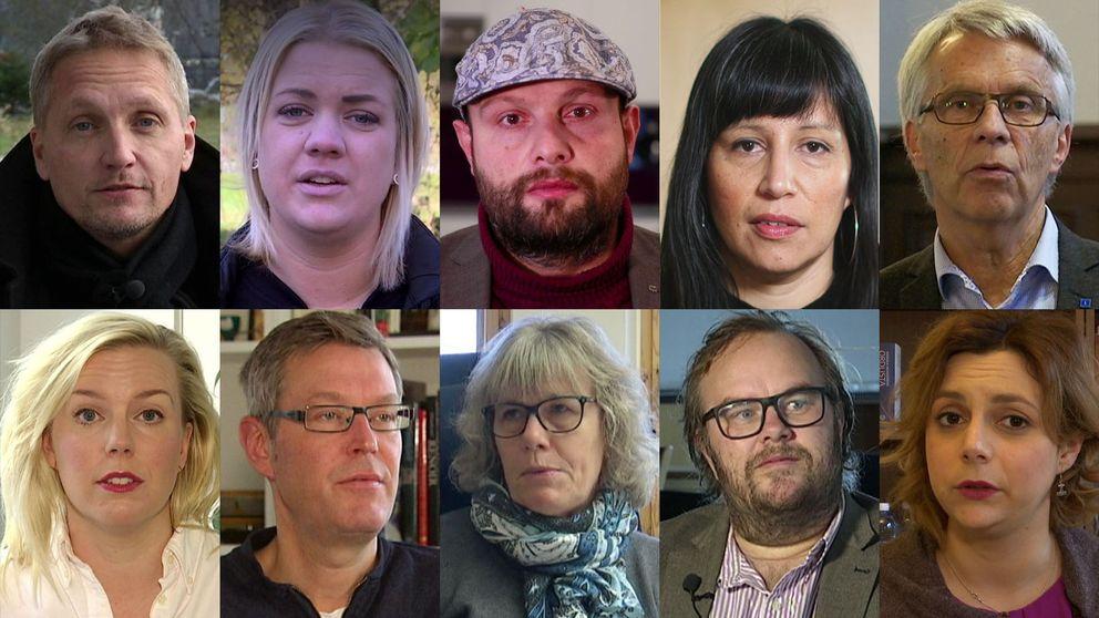 Bild på flera politiker som hotats.
