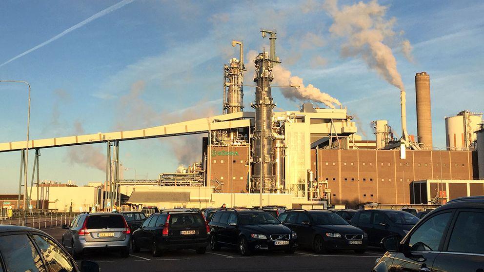 Södras pappersmassafabrik utanför Mönsterås