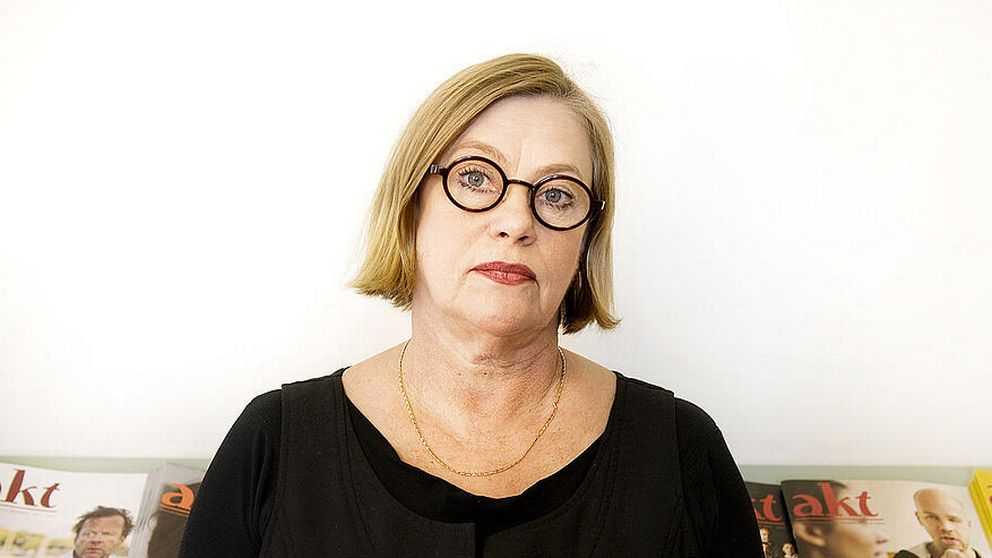 Anna Carlson, Teaterförbundets ordförande.