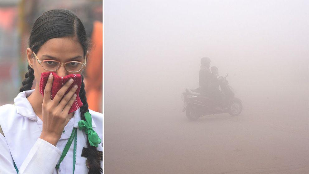 Så smutsigt är det i New Delhi nu