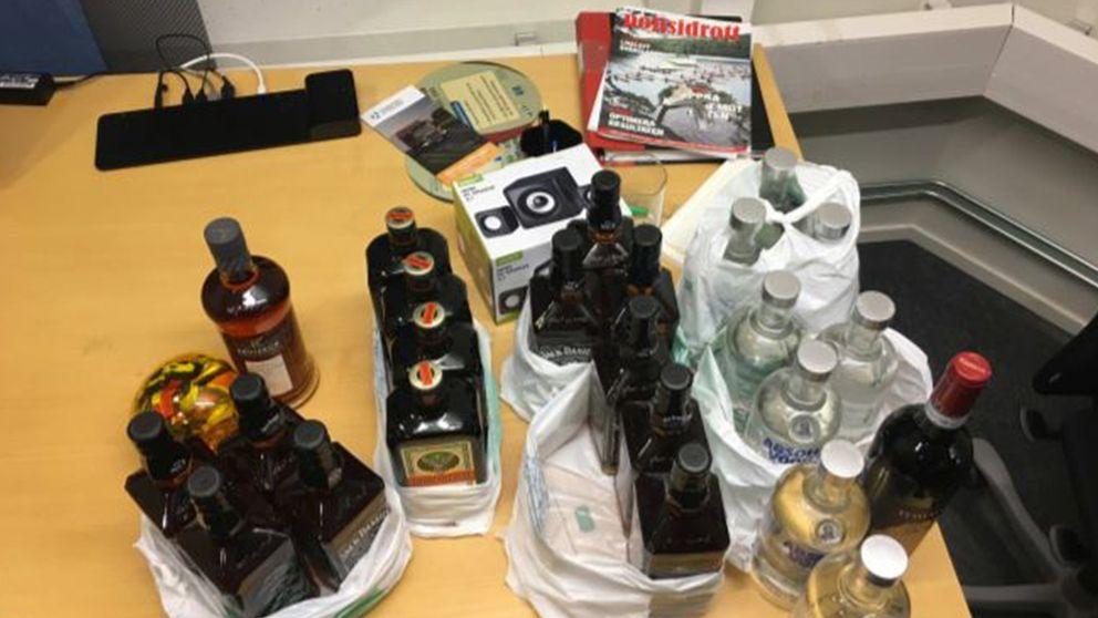 flaskor på bord
